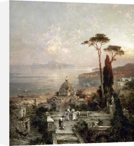 The View from the Balcony by Franz Richard Unterberger