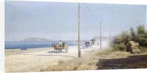 Country Scene in Mondello, Sicily by Francesco Lojacono