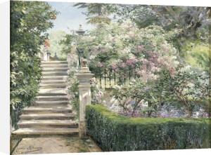 In the Gardens of the Royal Alcazar, Seville, Spain, 1912 by Manuel Garcia y Rodriguez