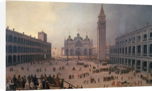 The Piazza di San Marco by Louis de Caullery