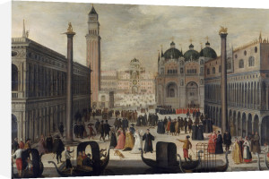 Venice, the Piazzetta and Doge's Palace by Louis de Caullery