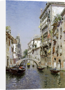 The Sunny Canal by Martin Rico Y Ortega