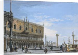 A Venetian View by Adolphe Bagot