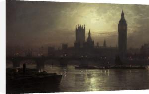 Westminster Bridge, London by John Atkinson Grimshaw