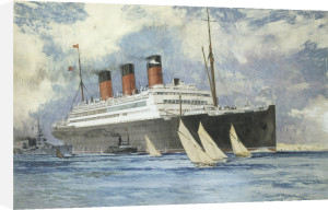 Berengaria leaving Southampton, 1927 by Charles Edward Dixon