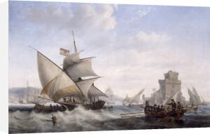 On the Tagus, 1842 by John Wilson Carmichael