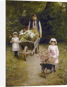 Helping Gardener, 1884 by Mary Hayllar