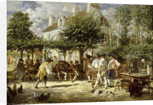 Sunday in Poissy, 1850 by Jean-Louis Ernest Meissonier