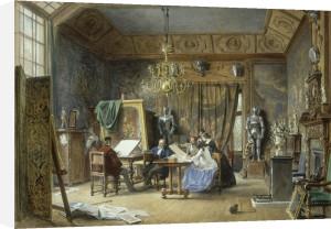 The Artist's Studio - Ladies Examining a Portfolio, 1860 by L Haghe