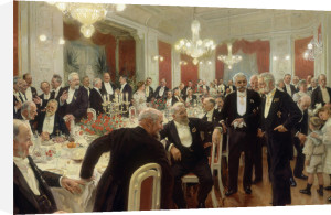 The Anniversary Dinner at Adelaide, 1906 by Laurits Regner Tuxen