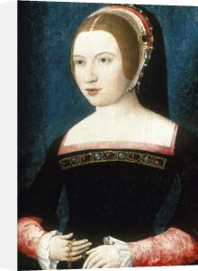 Portrait of a Young Woman Holding a Chain by Maitre de la Legende de Sainte Madeleine