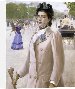 Portrait of a Lady in the Champs Elysees, 1893 by George Vaughan Curtis