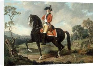 Equestrian portrait of a gentleman (possibly Marie Joseph Paul Yves Roch Gilbert du Motier, Marquis de la Fayette) by Louis-Auguste Brun