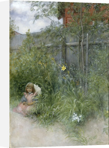 Brita in the Flowerbed by Carl Larsson