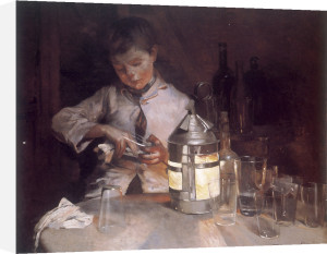 The Glass Cleaner, at Night, c.1890 by Marianne Stokes