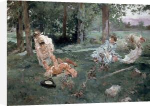 Elegant Figures in a Summer Garden, 1895 by Emilio Sala y Frances