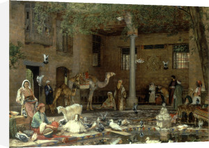 The Hosh (the Courtyard) of the House of the Coptic Patria by John Frederick Lewis