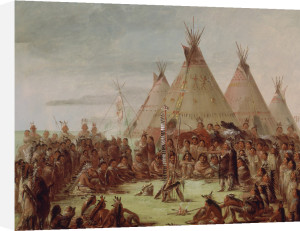 Sioux War Council, c.1848 by George Catlin