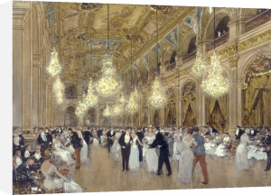 A Grand Ball in Paris by Luigi Aloys-François-Joseph Loir