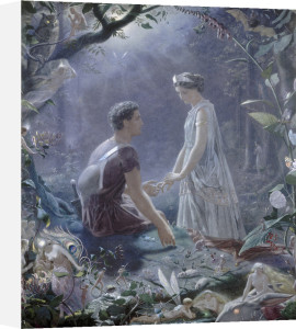 Hermia and Lysander by John Simmons