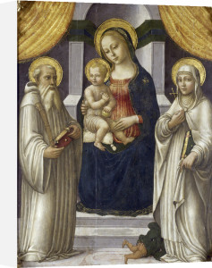 The Madonna with St Benedict and St Margaret of Antioch by Master of Marradi