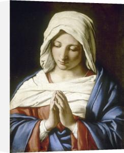 The Virgin in Prayer by Giovanni Battista Salvi Da Sassoferrato