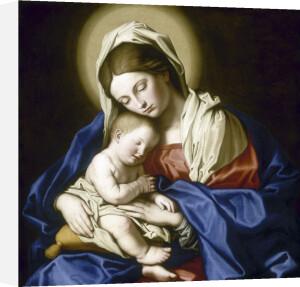 Virgin and Sleeping Child by Giovanni Battista Salvi Da Sassoferrato