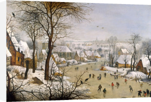 A Winter Landscape with Birdtrap by Pieter Brueghel The Younger