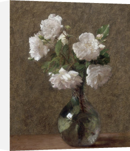 White Roses in a Vase, 1907 by Victoria Fantin-Latour