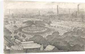 Bandstand, Peel Park, Salford, 1925 by L S Lowry