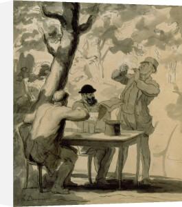 La Politique by Honoré-Victorin Daumier