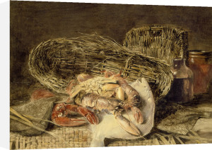 Still Life with Lobsters, Sole, Baskets and Jars by Peter de Wint