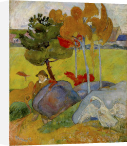 Petit Breton a l'Oie, 1889 by Paul Gauguin