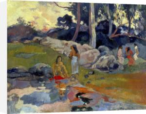 Femmes au Bord de la Riviere, 1892 by Paul Gauguin
