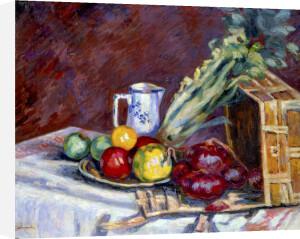 Nature Morte - Fruits, Pichets et Legumes, c.1910 by Jean-Baptiste-Armand Guillaumin