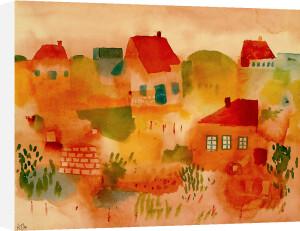 Nordsee Insel Hauser, 1923 by Paul Klee