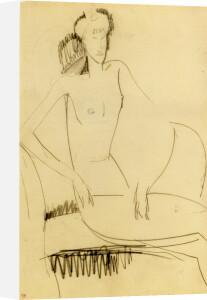 Femme Nue au Chapeau, Assise sur une Chaise by Amedeo Modigliani