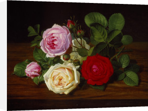 A Still Life with Roses by Otto Diderich Ottesen