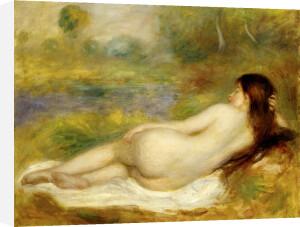 Femme Nue Couchee sur l'Herbe, c.1890 by Pierre Auguste Renoir