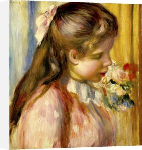 Buste de Jeune Flle, c.1895 by Pierre Auguste Renoir