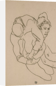 Embracing Couple, 1918 by Egon Schiele