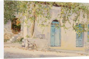 Vine and Blue Doors by Lucy Willis
