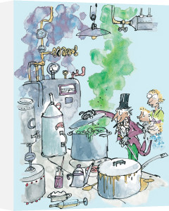 Roald Dahl - Charlie and the Chocolate Factory (Willy Wonka) by Quentin Blake