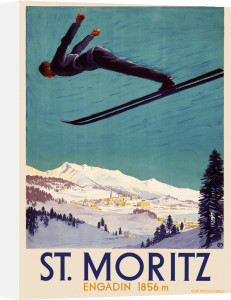 St Moritz ski resort, 1929 by Carl Moos