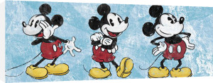 Mickey Mouse - Sqeaky Chic Triptych by Disney