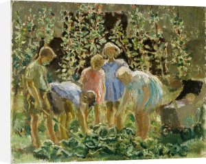 Evacuees Growing Cabbages by Leila Faithfull