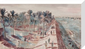 Baghdad - View of the River Tigris by Edward Bawden