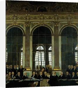 The Signing of Peace, 1919 by Sir William Orpen