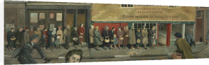 The Queue at the Fish-shop by Evelyn Mary Dunbar