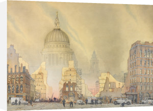 Air Raid on the City of London, 1940 by William A. Golding